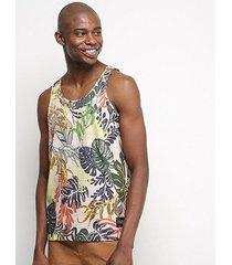blusa regata triton folhagem masculina