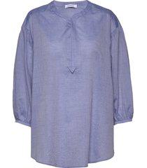 rodebjer sakina blouse lange mouwen blauw rodebjer