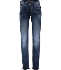 mac arne pipe jeans donkerblauw lichte wassing