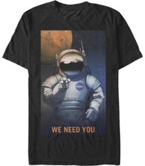 nasa men's mars we need you short sleeve t-shirt