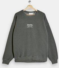 mens khaki herringbone sweatshirt