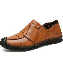 scarpe da uomo in pelle con cuciture antiscivolo