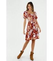 vestido  para mujer tennis, vestidos corto estampado flores y hojas
