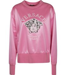 versace medusa head patched sweater