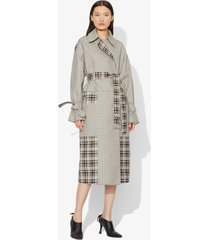 proenza schouler windowpane belted trench ecru/black windowpane/neutrals 8