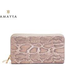 billetera beige mujer amayra fit