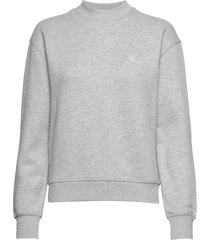 ck embroidery regular crew neck sweat-shirt trui grijs calvin klein jeans