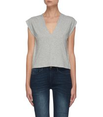 le high rise' v-neck cotton t-shirt