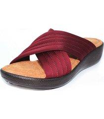 sandalia confort vino burana 865-006