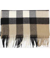 burberry cashmere scarf with tartan motif