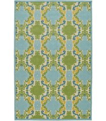 "kaleen a breath of fresh air fsr101-17 blue 7'10"" x 10'8"" area rug"