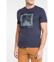 camiseta masculina earth connected azul marinho calvin klein jeans - pp