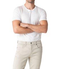 men's swet tailor duo cotton blend stretch slim fit pants, size 34 x 34 - beige