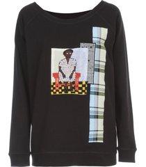 antonio marras sweatshirt crew neck w/paillettes