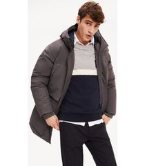 tommy hilfiger men's hooded canvas parka magnet - xs