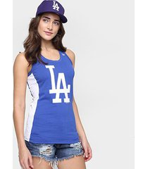 camiseta regata new era mlb los angeles dodgers feminina