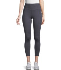 balance collection women's victoria ribbed active leggings - india ink - size l