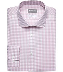 michael kors pink check slim fit dress shirt