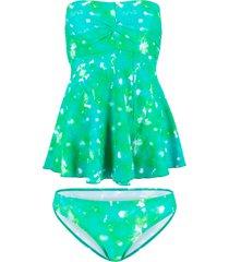 tankini lungo (set 2 pezzi) (verde) - bpc bonprix collection