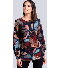 blouse alba moda marine::cognac::camel