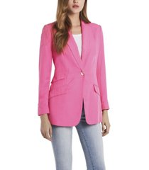 vince camuto petite long sleeve luxe cdc one button blazer