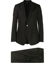 dolce & gabbana poplin two-piece suit - black