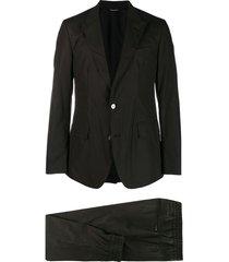 dolce & gabbana poplin two-piece suit - black