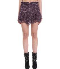 isabel marant étoile shorts in viola viscose