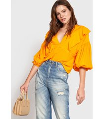 blusa colcci amarillo - calce holgado
