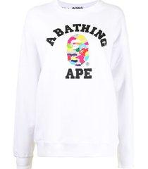 *baby milo® store by *a bathing ape® multi camo logo-print sweatshirt