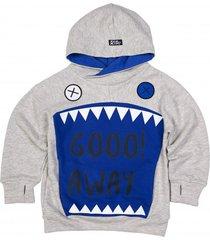 bluza giant shark hoodie cobalt