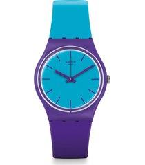 reloj swatch unisex mixed up/gv128 - bicolor