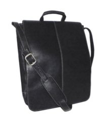 """royce 17"""" laptop messenger bag in colombian genuine leather"""