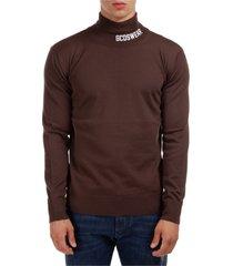 dolcevita maglione collo alto maglia uomo full logo