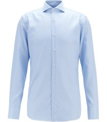 boss men's slim-fit crease-resistant cotton shirt