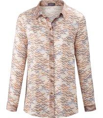blouse met lange mouwen en grafische print van basler multicolour