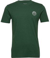 alder owl print tee - gots/vegan t-shirts short-sleeved grön knowledge cotton apparel