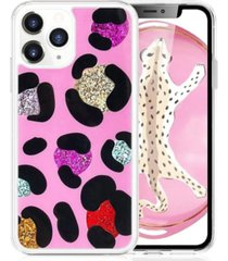 milanblocks iphone 11 pro leopard glitter phone case