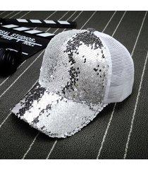 sombrero para mujer, gorro lentejuelas reflectantes gorro-