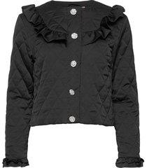 sallycras jacket blazers bouclé blazers svart cras