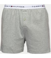 tommy hilfiger men's cotton classics boxer single pack grey - l