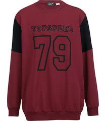 sweatshirt men plus bordeaux::zwart