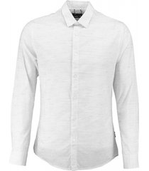 only & sons slim fit overhemd wit met blauw motief