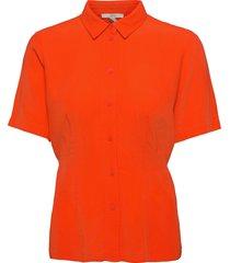 blouses woven blouses short-sleeved röd esprit casual