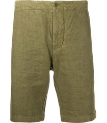 aspesi slim fit deck shorts - green