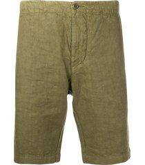 aspesi slim fit deck shorts - green