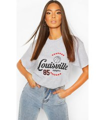 louisville printed t-shirt, grey marl