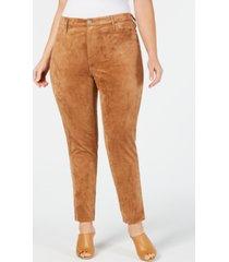 seven7 jeans plus size faux-suede pants