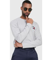 buzo gris tommy jeans