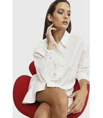vestido missguided blanco - calce holgado